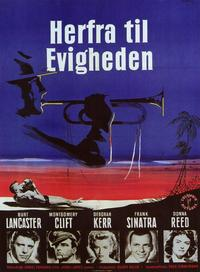 From Here to Eternity - 11 x 17 Movie Poster - Danish Style A
