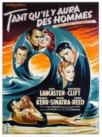 From Here to Eternity - 11 x 17 Movie Poster - French Style D