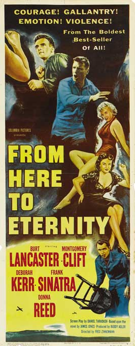 From Here to Eternity - 13 x 28 Movie Poster - Italian Style A