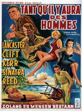 From Here to Eternity - 11 x 17 Movie Poster - Belgian Style A