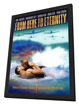 From Here to Eternity - 27 x 40 Movie Poster - Style E - in Deluxe Wood Frame