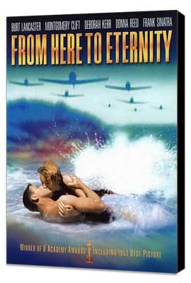 From Here to Eternity - 27 x 40 Movie Poster - Style E - Museum Wrapped Canvas