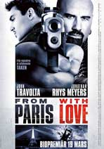 From Paris with Love - 27 x 40 Movie Poster - Swedish Style B