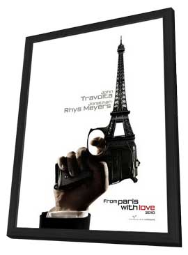 From Paris with Love - 11 x 17 Movie Poster - Style A - in Deluxe Wood Frame