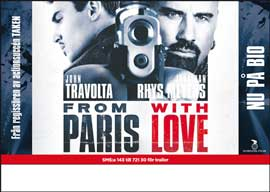 From Paris with Love - 27 x 40 Movie Poster - Swedish Style A