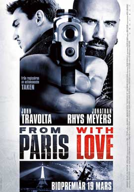 From Paris with Love - 43 x 62 Movie Poster - Swedish Style A