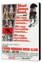 From Russia with Love - 27 x 40 Movie Poster - Style A - Museum Wrapped Canvas