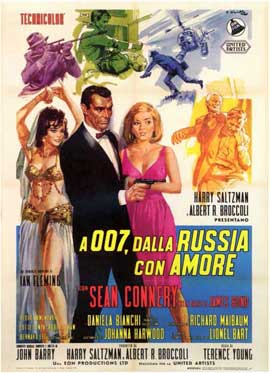 From Russia with Love - 11 x 17 Movie Poster - Italian Style A