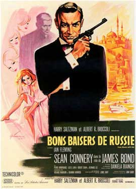 From Russia with Love - 11 x 17 Movie Poster - French Style A