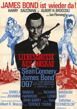 From Russia with Love - 11 x 17 Movie Poster - German Style A