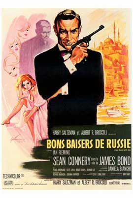From Russia with Love - 27 x 40 Movie Poster - French Style A