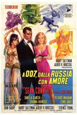 From Russia with Love - 27 x 40 Movie Poster - Italian Style A