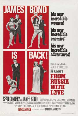 From Russia with Love - 27 x 40 Movie Poster - Style F