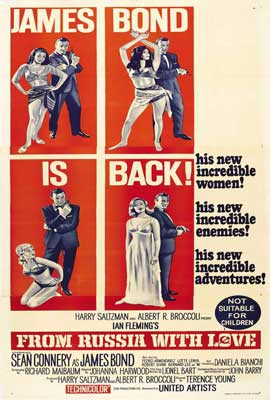From Russia with Love - 27 x 40 Movie Poster - Australian Style A