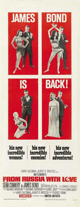 From Russia with Love - 14 x 36 Movie Poster - Insert Style B