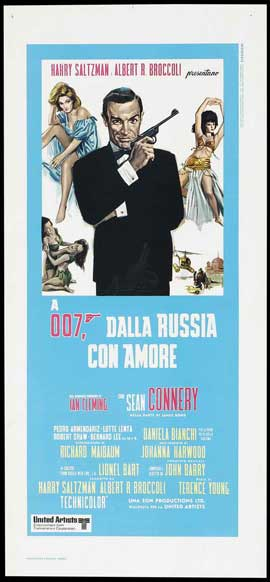 From Russia with Love - 13 x 28 Movie Poster - Italian Style A