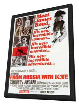 From Russia with Love - 27 x 40 Movie Poster - Style A - in Deluxe Wood Frame