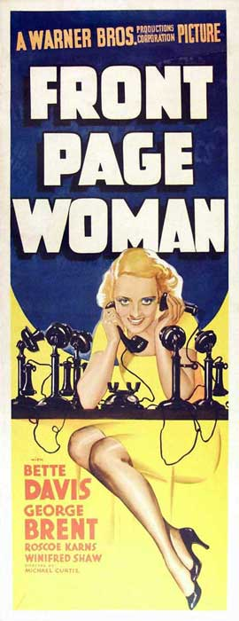 Front Page Woman - 14 x 36 Movie Poster - Insert Style A