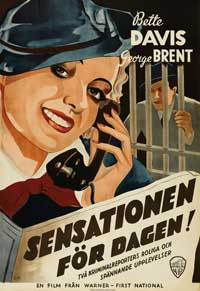 Front Page Woman - 27 x 40 Movie Poster - Swedish Style A