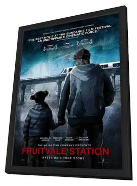 Fruitvale Station - 27 x 40 Movie Poster - Style B - in Deluxe Wood Frame
