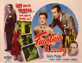 Fugitive Lady - 11 x 14 Movie Poster - Style A