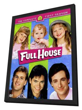 Full House (TV) - 11 x 17 TV Poster - Style A - in Deluxe Wood Frame