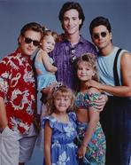 Full House (TV) - Full House Cast Posed in Blue Background