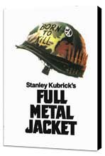 Full Metal Jacket - 11 x 17 Movie Poster - Style E - Museum Wrapped Canvas