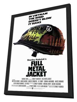 Full Metal Jacket - 11 x 17 Movie Poster - Style A - in Deluxe Wood Frame