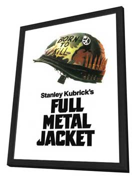 Full Metal Jacket - 11 x 17 Movie Poster - Style E - in Deluxe Wood Frame