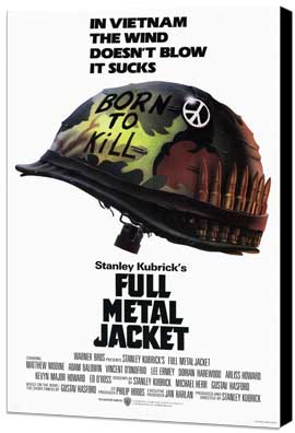 Full Metal Jacket - 11 x 17 Movie Poster - Style A - Museum Wrapped Canvas