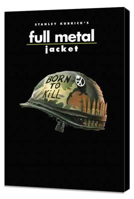 Full Metal Jacket - 11 x 17 Movie Poster - Style G - Museum Wrapped Canvas