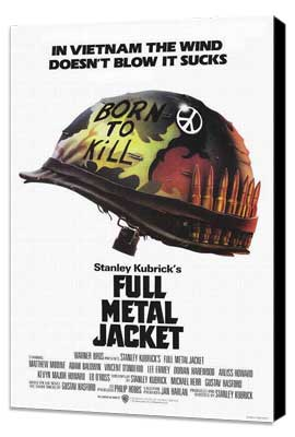 Full Metal Jacket - 11 x 17 Movie Poster - Style J - Museum Wrapped Canvas