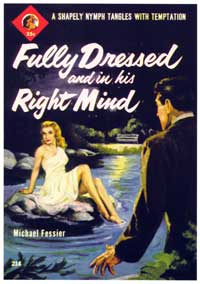Fully Dressed and in His Right Mind - 11 x 17 Retro Book Cover Poster