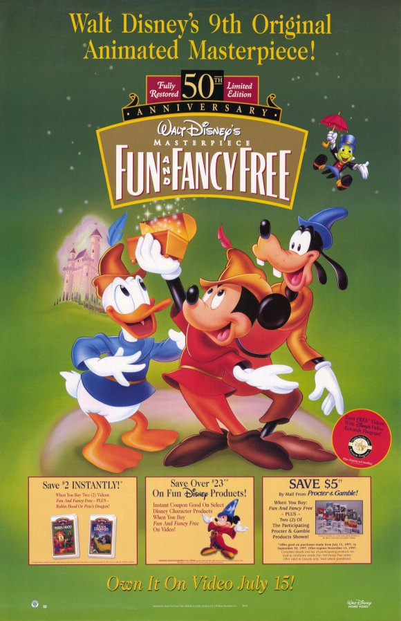 Fun and fancy free movie poster 1947 1020210404 jpg
