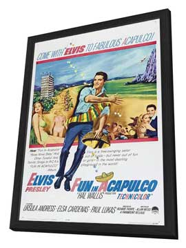 Fun in Acapulco - 11 x 17 Movie Poster - Style A - in Deluxe Wood Frame