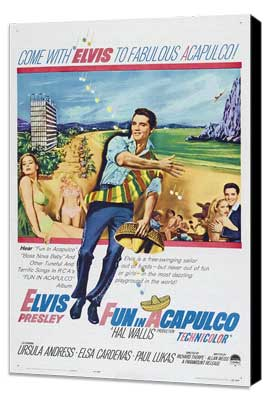 Fun in Acapulco - 11 x 17 Movie Poster - Style A - Museum Wrapped Canvas