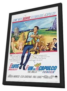 Fun in Acapulco - 27 x 40 Movie Poster - Style A - in Deluxe Wood Frame
