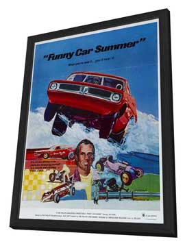 Funny Car Summer - 27 x 40 Movie Poster - Style A - in Deluxe Wood Frame