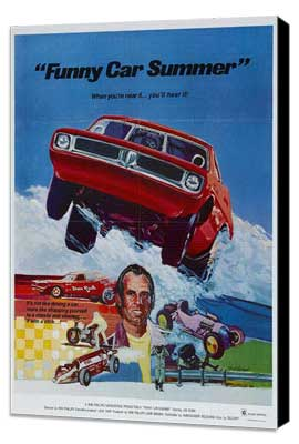 Funny Car Summer - 27 x 40 Movie Poster - Style A - Museum Wrapped Canvas