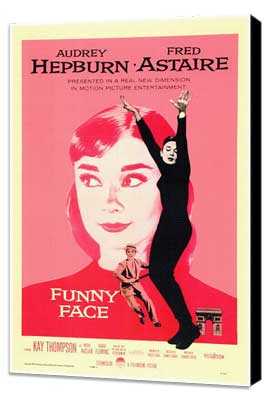 Funny Face - 11 x 17 Movie Poster - Style A - Museum Wrapped Canvas