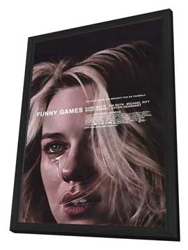 Funny Games - 27 x 40 Movie Poster - Style A - in Deluxe Wood Frame