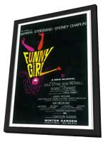 Funny Girl (Broadway) - 14 x 22 Poster - Style A - in Deluxe Wood Frame
