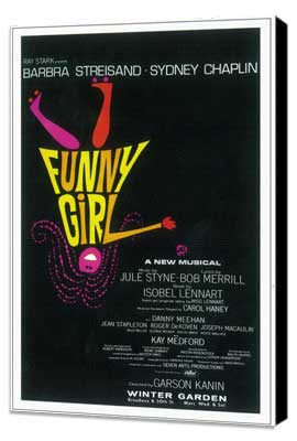 Funny Girl (Broadway) - 14 x 22 Poster - Style A - Museum Wrapped Canvas