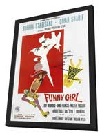 Funny Girl - 11 x 17 Movie Poster - Italian Style A - in Deluxe Wood Frame