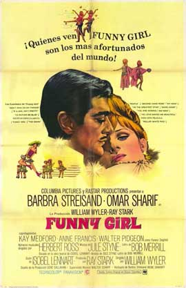 Funny Girl - 11 x 17 Movie Poster - Spanish Style A
