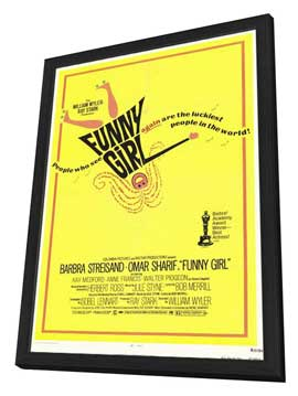 Funny Girl - 11 x 17 Movie Poster - Style A - in Deluxe Wood Frame