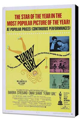 Funny Girl - 27 x 40 Movie Poster - Style A - Museum Wrapped Canvas