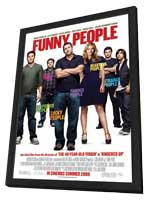 Funny People - 27 x 40 Movie Poster - Style C - in Deluxe Wood Frame