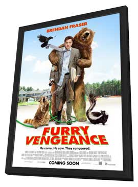 Furry Vengeance - 11 x 17 Movie Poster - Style A - in Deluxe Wood Frame